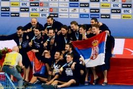 European Water Polo Championship final Serbia - Montenegro